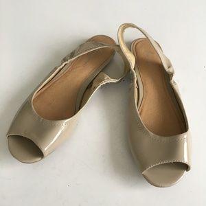 Lane Bryant Peep Toe Singleback Flats Sandals 11W
